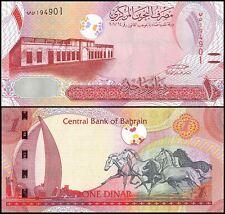 Bahrain 1 Dinar, 2016-2017, P-NEW, UNC, w/ Tactile Lines (Blind)