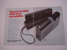 advertising Pubblicità 1977 VOXSON MOSTRO/BOCCARDINO