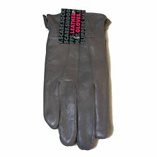 WOMENS LADIES GREY S/M SOFT GENUINE LEATHER GLOVES CASUAL DRIVING RIDING