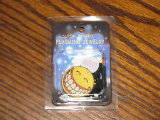 SMILIE FACE - Flashing Blinkie Necklace/Pin!!  Cool!!