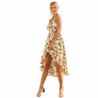 Women's Floral Maxi Dresses Sleeveless Strappy Evening Party Beach Sundress