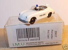 RARE MICRO IMU HO 1/87 PORSCHE 356 CABRIOLET CAB POLIZEI POLICE REF 20017 IN BOX