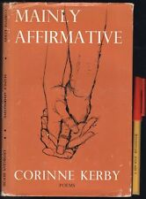 Signed 1st Edition ABC TV 1950s/60s CORRINNE KERBY Mainly Affirmative HCDJ