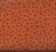 Compose flowers and leaves orange David fabric