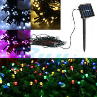 50 100 200 LED Solar Power Fairy Lights String Garden Outdoor Party Wedding Deck