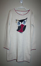 NEW Girls GYMBOREE Owl Sweater Holiday Dress Long Sleeve Beige 10 NWT $39.95