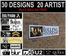 acdc guns n roses madonna michael jackson oasis blur the who banner poster flag
