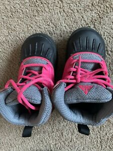 Nike Woodside 2 Winter Boots Toddlers Pink Black Grey 524878-600 7c Girls