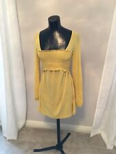 Boob Nursing Long Sleeved Smock Blouse - Yellow - S