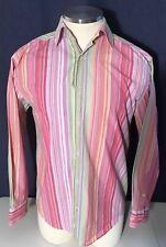 CUBAVERA Mens Dress Shirt Long Sleeve Button Down Men's Size S Striped