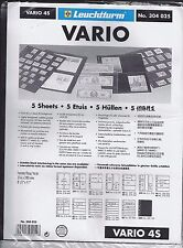New Vario Stock Sheets 4S Two-Sided Four Horizontal Pockets Black Pkg. 5