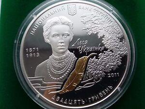 """Ukraine, 20 Hryven,For going on Lesі Ukraїnki """"Lisova pіsn,Silver coin 2009 year"""