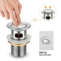 POP UP Waschtisch Ablaufventil Ablaufgarnitur mit Überlauf Waschbecken Abfluss