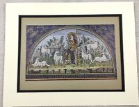 1929 Print Byzantine Ravenna Mosaic Mausoleum of Galla Placidia Antique Original