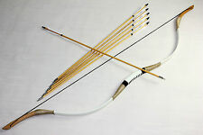 50lbs mongolian bow handmade cow Leather longbow recurve bow hunting Hot Shoot