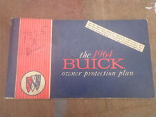 1964 Buick Owner Protection Plan Owners Manual Anderson Indiana