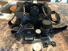 Sears KSX SUper 35 mm Bundle Camera W/ Case, Flash, & Zoom SLR Film.