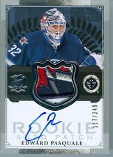 2013-14 THE CUP #131 EDWARD PASQUALE RC ROOKIE AUTO 5 COLOUR SHOULDER PATCH