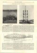 1914 NUOVO PONTE Quebec sovrastruttura completato Piers trave del pavimento