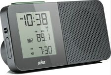 Radio-Réveil Quartz BRAUN Gris - Radio-Piloté - Interface LCD - BNC010GY-RC