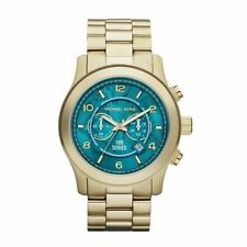 Michael Kors MK8315 Hunger Stop Goldtone,Turquoise Oversized Dial unisex watch