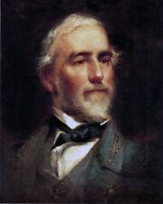 "Robert E Lee Portrait Civil War Painting Art 8""x10"" Real Canvas Art Print New"