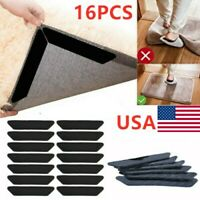 16x Rug Gripper Pad Anti Curling Carpet Anchors Sticky Holder Non-slip Washable