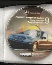2001 Mercedes Command Navigation Digital Road Map CD #9 South East USA