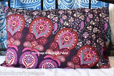 Indian Peacock Mandala Pillow Sham Cotton Cushion Cover Case Throw Boho Tapestry