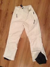 """BNWT """" Thinsulate """" Size 14-16 White Warm-wind-Waterproof Skiing Pants Trousers"""