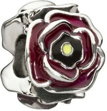 Authentic Chamilia Element Charm Silber 'Simply Rosy' Burgundy Bead 2020-0649