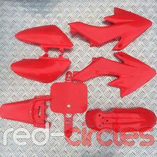 RED CRF50 STYLE PIT BIKE FAIRING PLASTIC SET / KIT 50cc 110cc 125cc PITBIKE