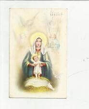 91006 ANTICA CARTOLINA CON GESU' BAMBINO E VERGINE MARIA 1937