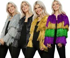 Fever Tinsel Festival Jacket Carnival Festival Ladies Fancy Dress Rave Party Dis