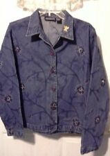 6607f25178fe6 New Directions womens size large denim jacket long sleeve button front  closure