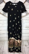 Connected Apparel Dress Size 6 Short Sleeve Animal Print Tiger Wildlife Maxi
