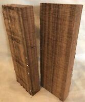 2 Knife Scales Indian Laurel Wood Knife Door Handles Gun Grips Guitar Bridges