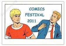 Ex-libris Sérigraphie Martin Alix et Lefranc Comics festival 2011 RARE 14,5x21