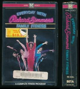 Karl Video Betamax NOT VHS Everyday With Richard Simmons Family Fitness 1983 VTG