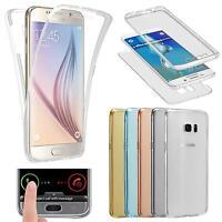 360 TPU caso telefono custodia protettiva trasparente Cover per Samsung iPhone