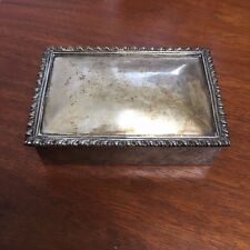 S DE LA SERNA STERLING SILVER WOOD LINED CIGARETTE BOX 925 MEXICO 303 G SCRAP