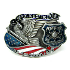 Police Officer Belt Buckle American Hero Eagle Flag Badge Metal Commemorative