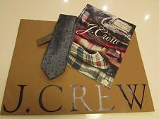 NWT. J.Crew  English silk tie with embroidered insects /  Made in the USA.