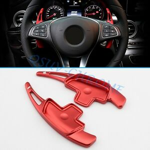 Red Steering Wheel Paddle For Mercedes-Benz Gear Shift Interior Accessories Trim