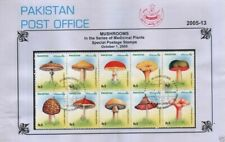 Pakistan Fdc 2005 FIrst Day Brochure & Stamps Mushrooms Medicinal Plant
