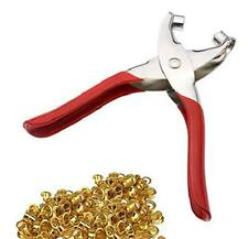 Grommet Setter Pliers Setting Tool Kit Leather Hole Punch With 100pcs Eyelets US