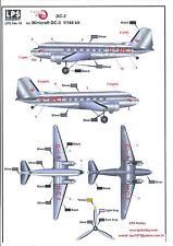 LPS Decals 1/144 DOUGLAS DC-3 BRITISH EUROPEAN AIRWAYS Delivery Colors