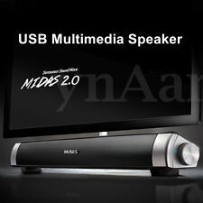 USB Multimedia Speaker Subwoofer Stereo Music Play Soundbar For Computer Laptop