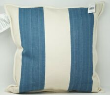 "Lauren Ralph Lauren Graydon Ticking Stripe 20"" Cotton Feather Decorative Pillow"