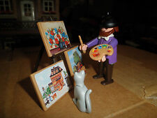Playmobil Victorian 5404 Artist Painter Paintings Brush Palette Cat Complete